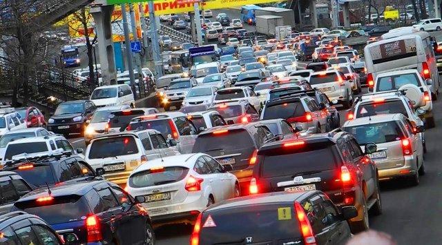 블라디보스톡 교통정체 지수 7점을 기록하다
